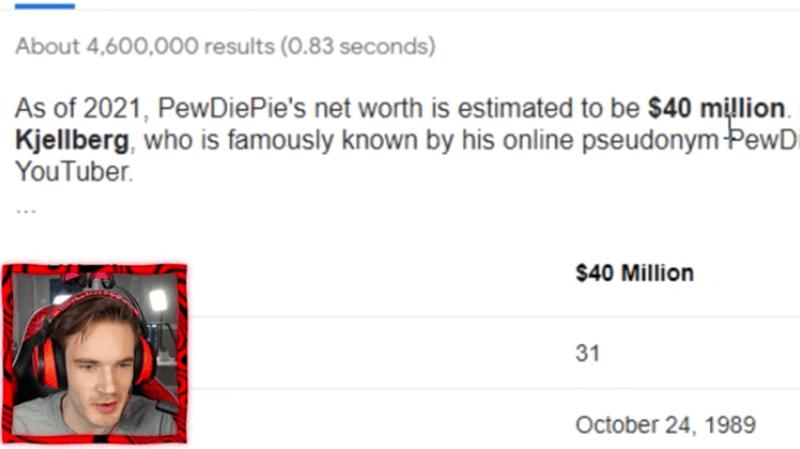 Youtuber Pewdiepie Googles Himself