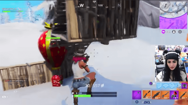 Youtuber Sssniperwolf Playing Fortnite