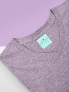 Mockup Of A Customizable Inside Clothing Label On A V Neck Tee