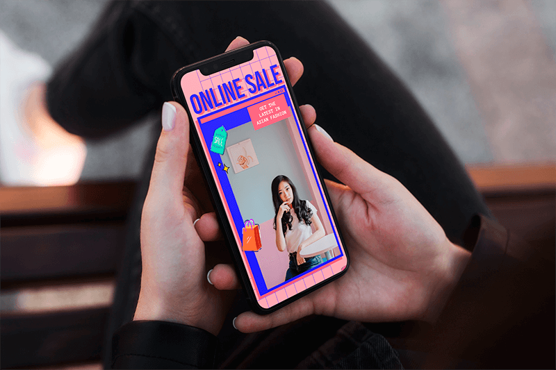 Mockup Of A Relaxed Woman Using An Iphone 11 Pro