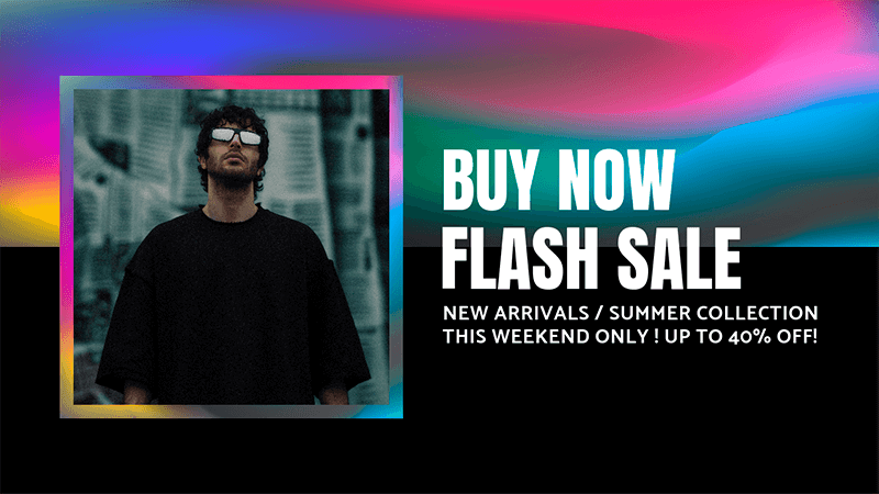 Fashion Themed Youtube Thumbnail Generator For A Flash Sale Featuring A Bright Color Palette