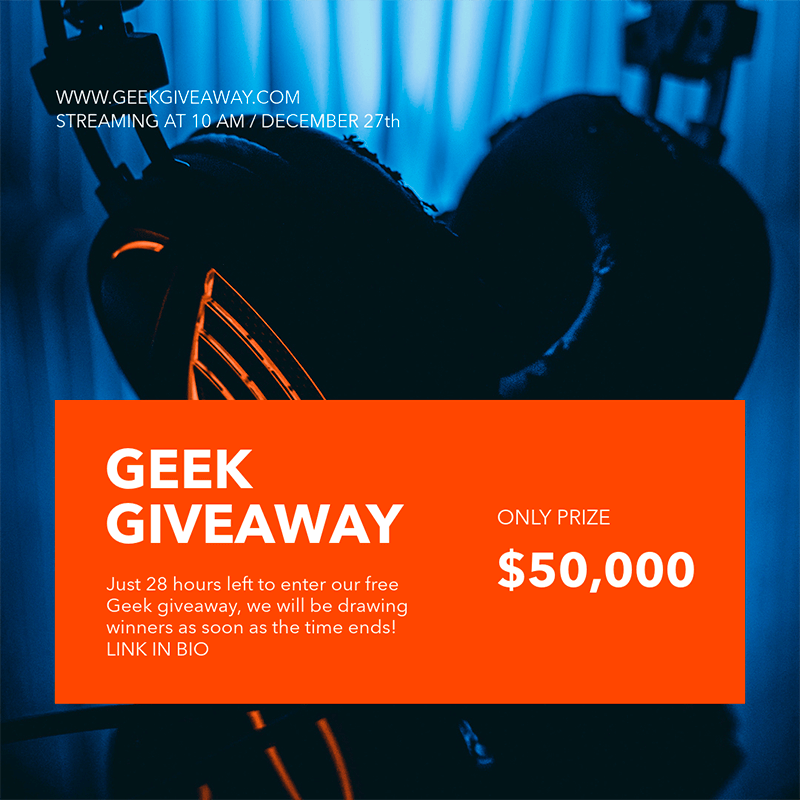 Instagram Post Template For A Geek Giveaway