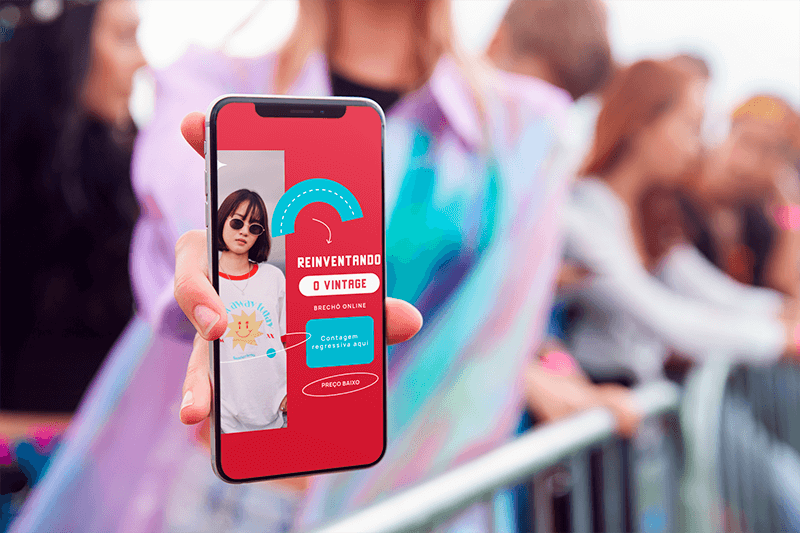 Mockup Featuring A Woman Holding An Iphone 11 Pro At A Concert