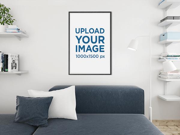 Art Print Free Mockup Living Room