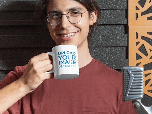 Mug Mockup Free Young Guy