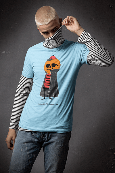 Bella Canvas T Shirt Mockup Of A Man Wearing A Grunge Inspired Look
