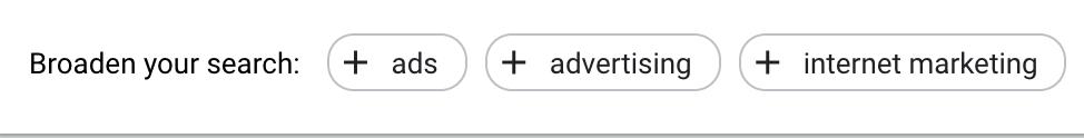 Broaden Search Adwords