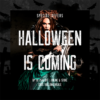 Halloween Themed Instagram Post Template For A Special Discount Announcement 2967f