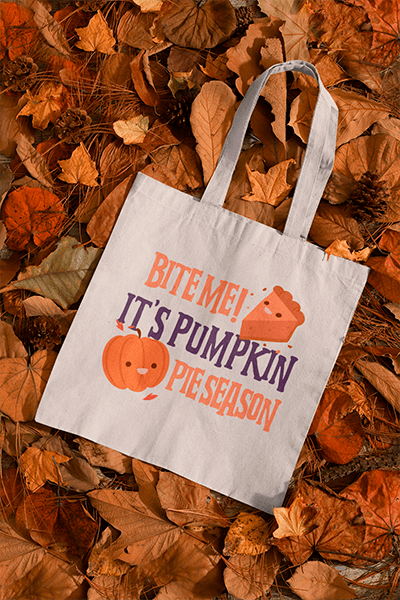 Mockup Of A Sublimated Tote Bag Placed Over A Bunch Of Autumn Leaves