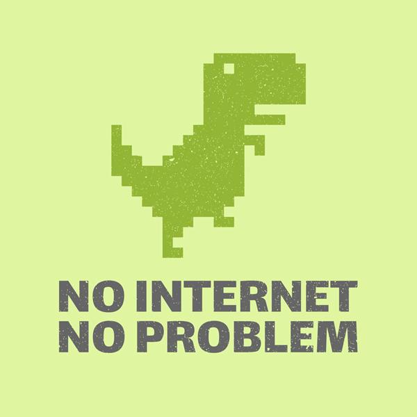 8 Bit Dinosaur T Shirt Design
