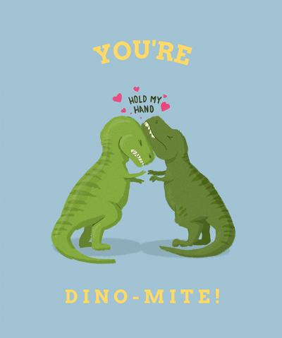 Lovely T Shirt Design Template For Valentines Featuring Dinosaur Design