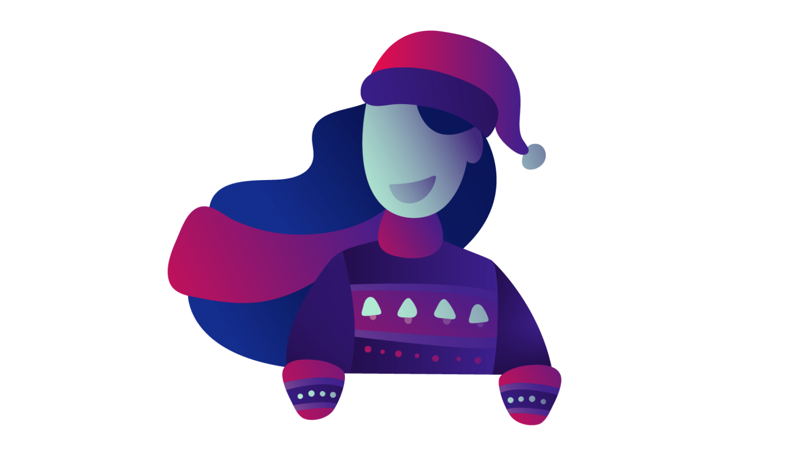 Placeit Christmas Advent Calendar Lady