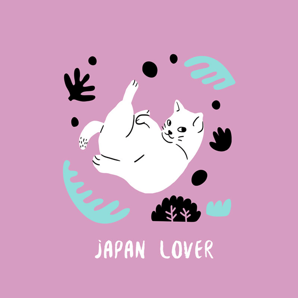 T Shirt Design Template With A Cat Graphic
