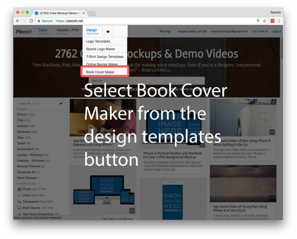the easiest ebook cover software no download needed